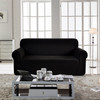 Jacquard  Polyester Spandex Fabric Box  Cushion Sofa Slipcovers-Black