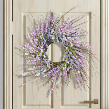 "24""  Mixed Spring Artificial Flower Wreath"