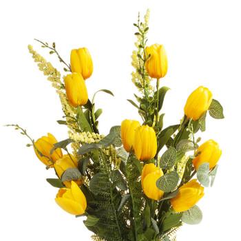 Yellow Artificial Tulip Stem Set of 2