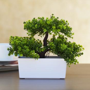 Artificial Tree  in White Planter-6258