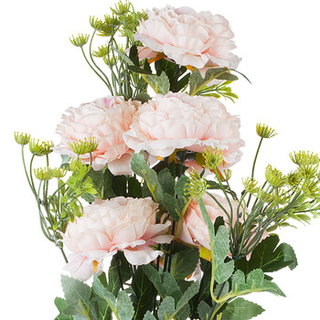 7 Heads Mixed High Quality Silk Combination Peonies Bush(Pink)