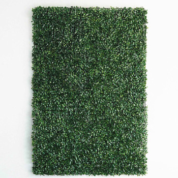 12 Panels 31 Sq ft. Artificial Boxwood Hedge Faux Foliage Greenery Wall Backdrop Decoration for Party Wedding Indoor & Outdoor Garden