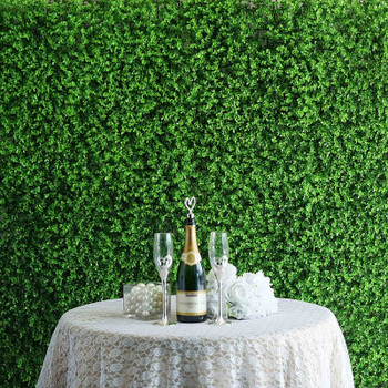 12 Panels 31Sq ft. Artificial Boxwood Hedge Eucalyptus Leaves Faux Foliage Wall Backdrop Decoration for Party Wedding Indoor & Outdoor Garden