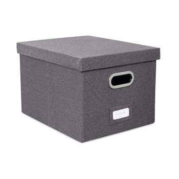 Large Collapsible Storage Bins with Cover(Dark Grey)