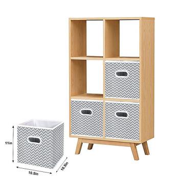 Fabric Storage Bins With Handles (Set of 6)