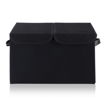 Collapsible Storage Bins with Cover(Black)