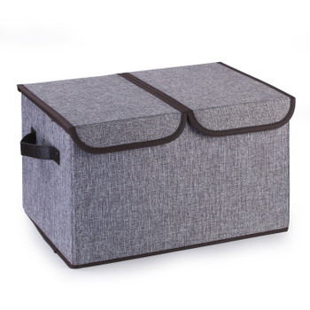Collapsible Storage Bins with Cover(Grey)