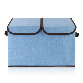 Collapsible Storage Bins with Cover(Blue)