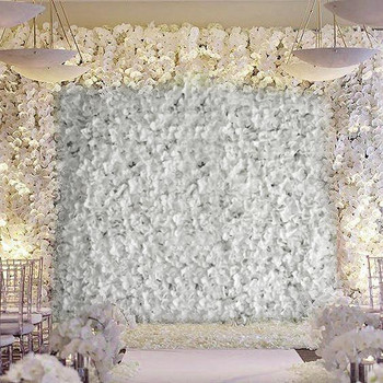 White Artificial Faux Foliage Wall Mat Panel 4 Pack 11 Sq ft.