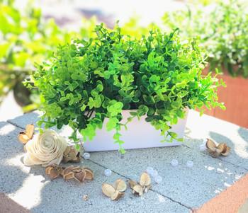 Artificial  Eucalyptus Grass in Decorative Vase