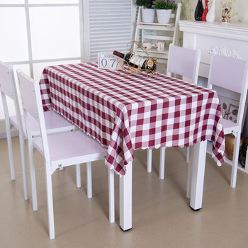 """54""""x 72"""" Wine Red Polyester Rectangle Tablecloth"""