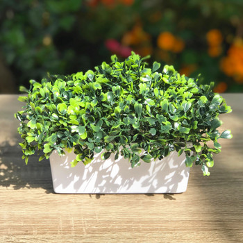 Artificial  Boxwood Grass in  Decorative Vase