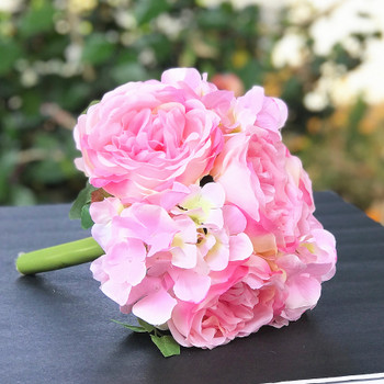 Pink Artificial Peony and  Hydrangea Mixed Floral Arrangement set of 2