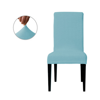 Steel Blue Ultra Soft Stretch Fabric Dining Chair Slipcovers Removable  Anti-Dirty Fitted Furniture Protector Set of 4