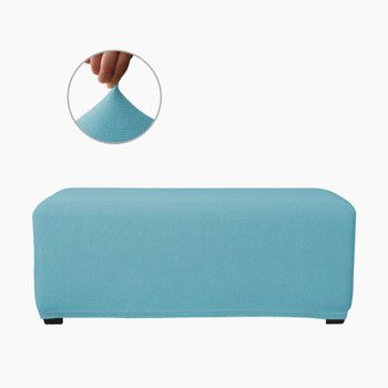 Steel Blue Ultra Soft Stretch Fabric Oversize Ottoman Slipcovers Removable  Anti-Dirty Fitted Furniture Protector