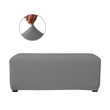 Grey Ultra Soft Stretch Fabric Oversize Ottoman Slipcovers Removable  Anti-Dirty Fitted Furniture Protector