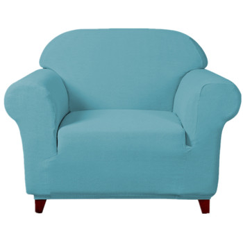 Steel Blue Ultra Soft Stretch Fabric Armchair Slipcovers Removable  Anti-Dirty Fitted Furniture Protector