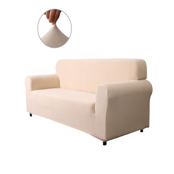 Ivory White Ultra Soft Stretch Fabric Loveseat Slipcovers Removable  Anti-Dirty Fitted Furniture Protector