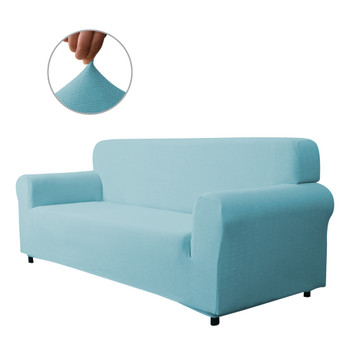 Steel Blue Ultra Soft Stretch Fabric Sofa Slipcovers Removable  Anti-Dirty Fitted Furniture Protector