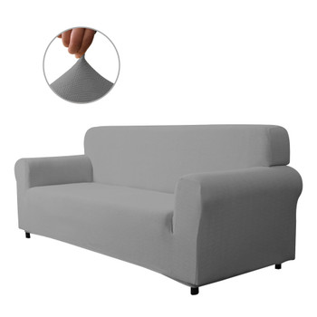 Grey Ultra Soft Stretch Fabric Sofa Slipcovers Removable  Anti-Dirty Fitted Furniture Protector