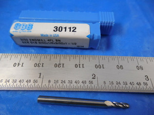 PART NO 4-Flute ALTiN Coated SGS Series 1 3//4 L.O.C. SGS30006 1//4 Square-End Regular Length Carbide End Mill
