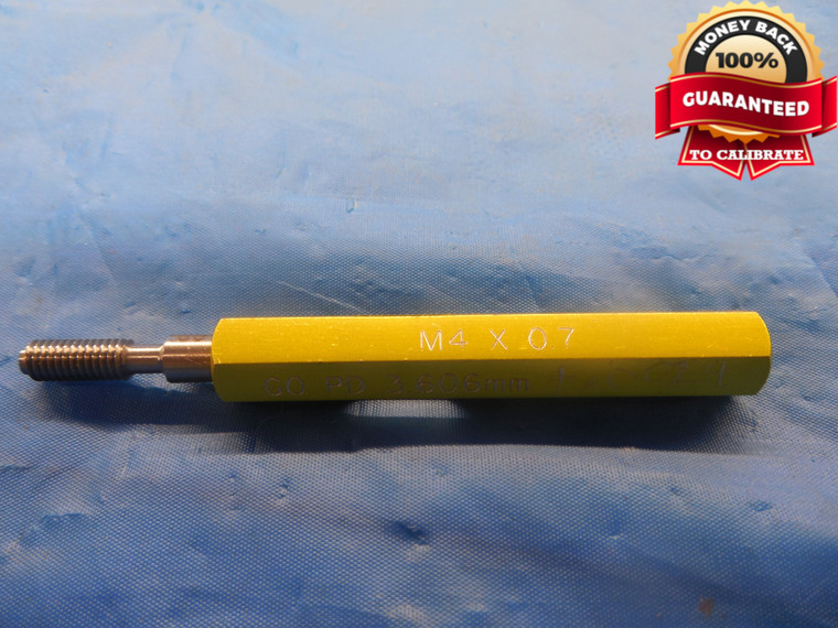 M4 X .7 + .0024 OVERSIZE THREAD PLUG GAGE 4.0 0.7 GO ONLY P.D. = 3.606 mm