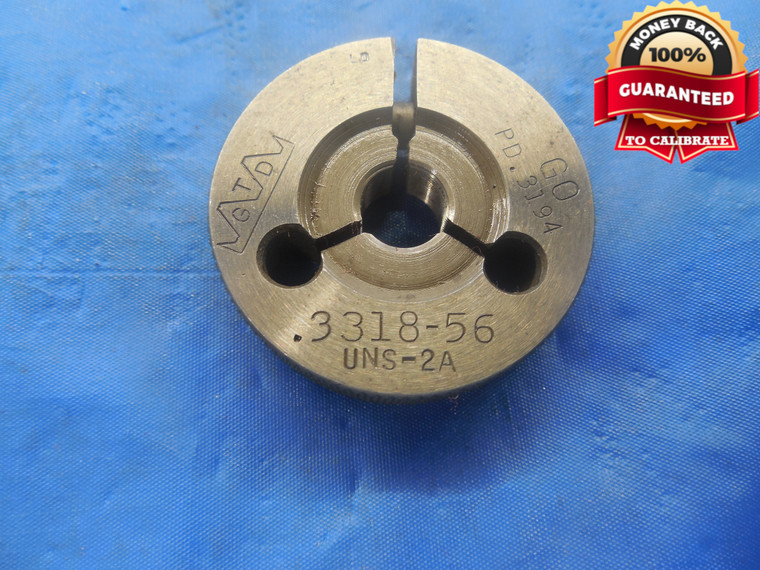 .3318 56 UNS 2A THREAD RING GAGE .33180 GO ONLY P.D. = .3194 NS-2A QUALITY TOOL - DW3395RD