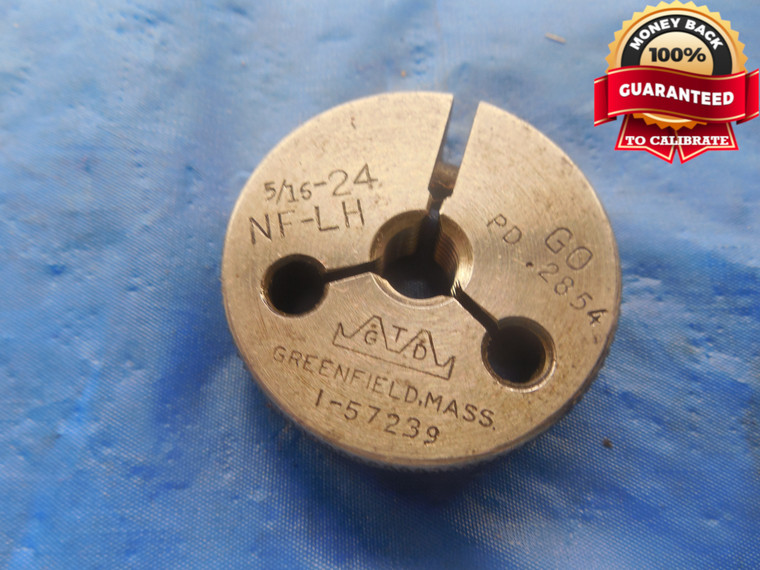 5/16 24 NF LEFT HAND THREAD RING GAGE .3125 GO ONLY P.D. = .2854 L.H. UNF-3A - DW3549BU