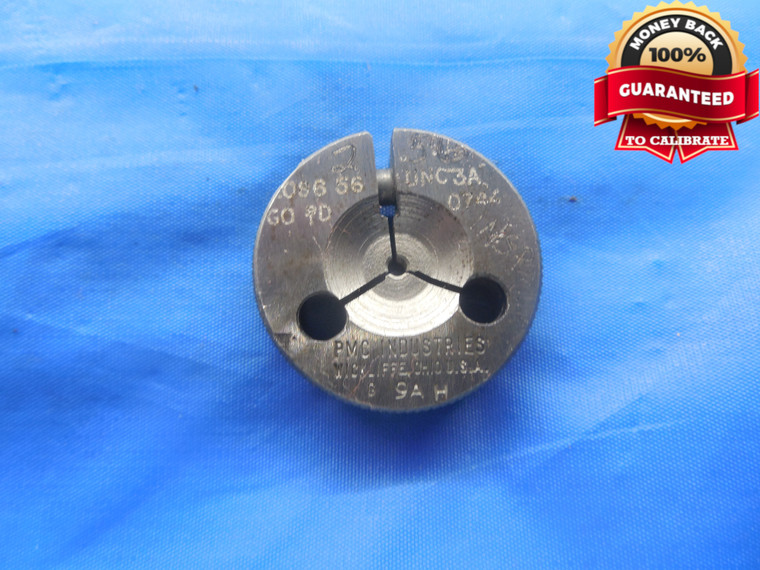 2 56 UNC 3A THREAD RING GAGE #2 .086 GO ONLY P.D. = .0744 NC-3A INSPECTION TOOL - DW3551BU