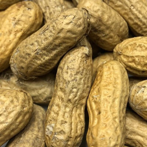 Roasted in shell peanuts. Sold by the lb. Dry Roasted.