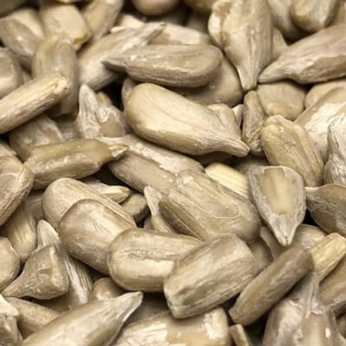 Raw no shell sunflower seed kernels. Sold by the lb.