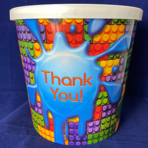 Gourmet Argires Popcorn Thank You Gift Tub. 1 gallon size. Cheese or Cheese & Caramel Mix or all Caramel Popcorn. Chicago Downtown Style Quality. Made fresh for great taste. Packed fresh for big smiles.
