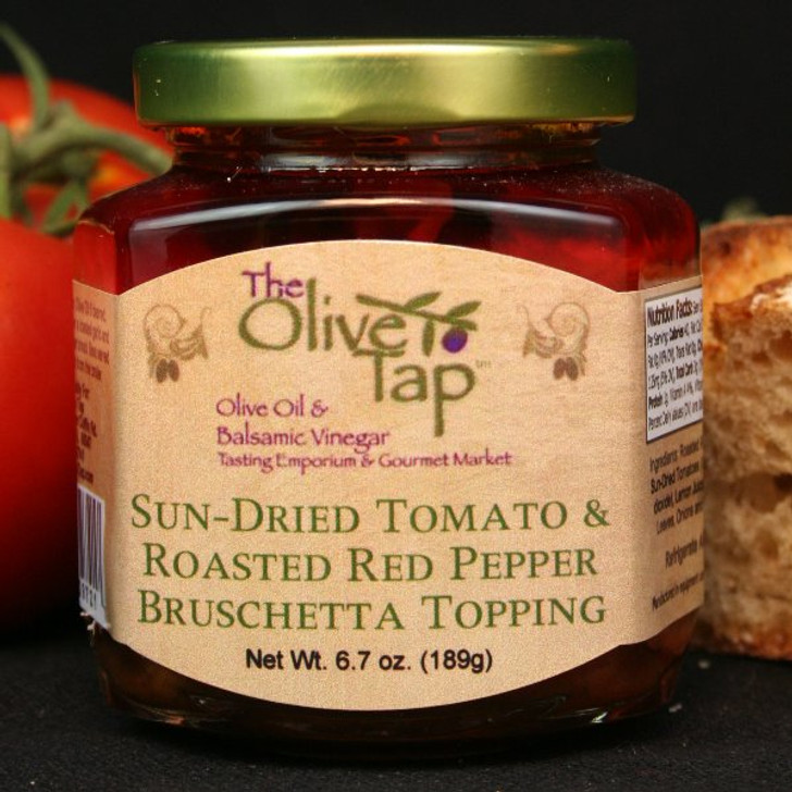 Sun-Dried Tomato Roasted Red Pepper Bruschetta Topping