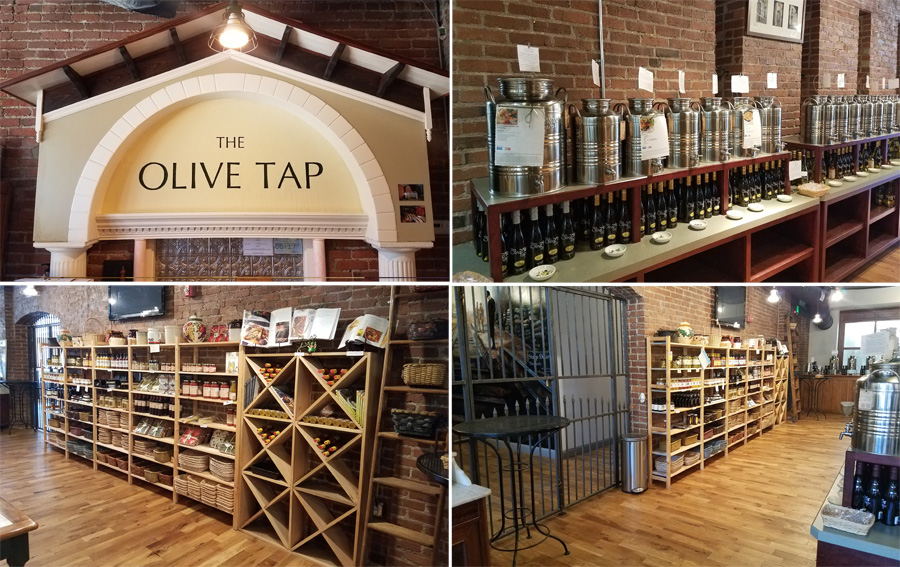 The indoors of the Pittsburgh The Olive Tap store