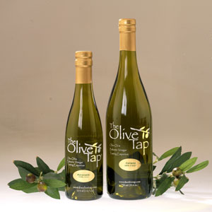 Our bottled olive oil comes in two sizes for most flavors