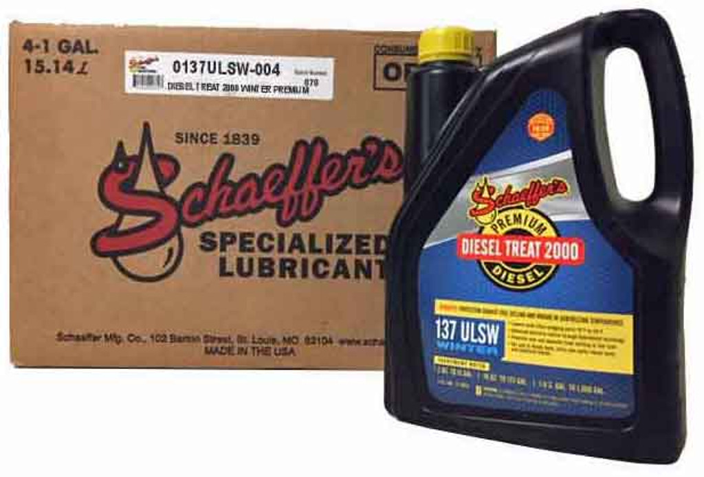 Schaeffer 0137ULSW-004 Diesel Treat 2000 Ultra Low Sulfur Winter Premium (4-Gallon case)