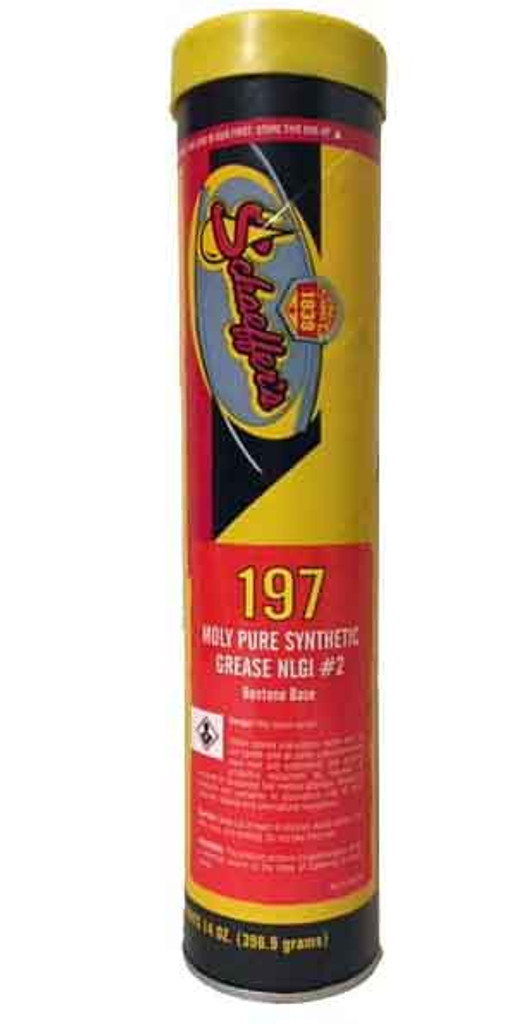 Schaeffer's 197 Moly Pure Synthetic Grease is compounded from the highest quality polyalphaolefin (PAO) synthetic base oil available. Blended into the polyalphaolefin base oil is a bentone thickener and selected additives including molybdenum disulfide. 1 tube