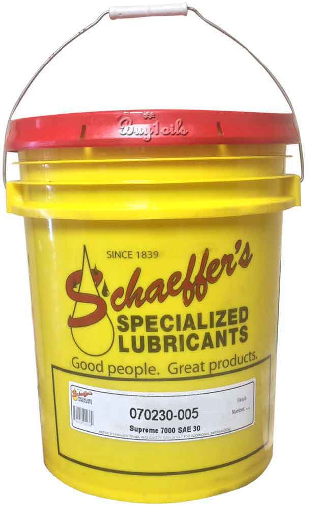 Schaeffer 070230-005 Supreme 7000 Synthetic Plus Engine Oil SAE 30 (5-Gallons)