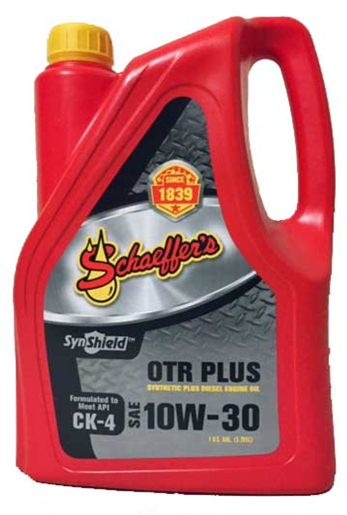Schaeffer's 711 10W-30 SynShield® OTR Plus is a premium advanced performance, synthetic plus, heavy-duty diesel engine oil formulated to provide maximum protection against wear, oxidation, deposit formation, soot contamination, and aeration.  1 GALLON