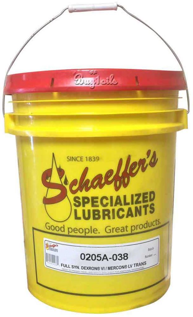 Schaeffer 0205A-038 Dexron® VI/Mercon® LV Full Synthetic ATF (38-Lbs pail)