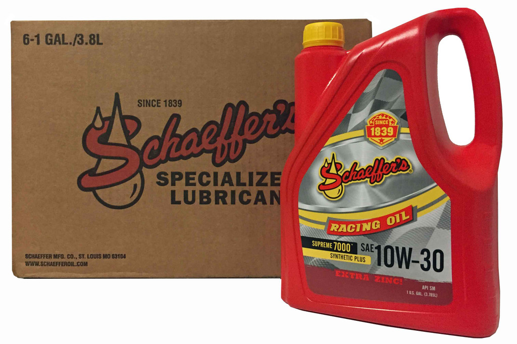 Schaeffer 0709-006 Supreme 7000 Synthetic Plus Racing Oil 10W-30 (6-Gallons)