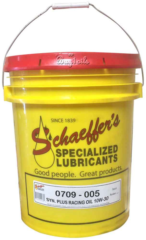 Schaeffer 0709-005 Supreme 7000 Synthetic Plus Racing Oil 10W-30 (5-Gallons)