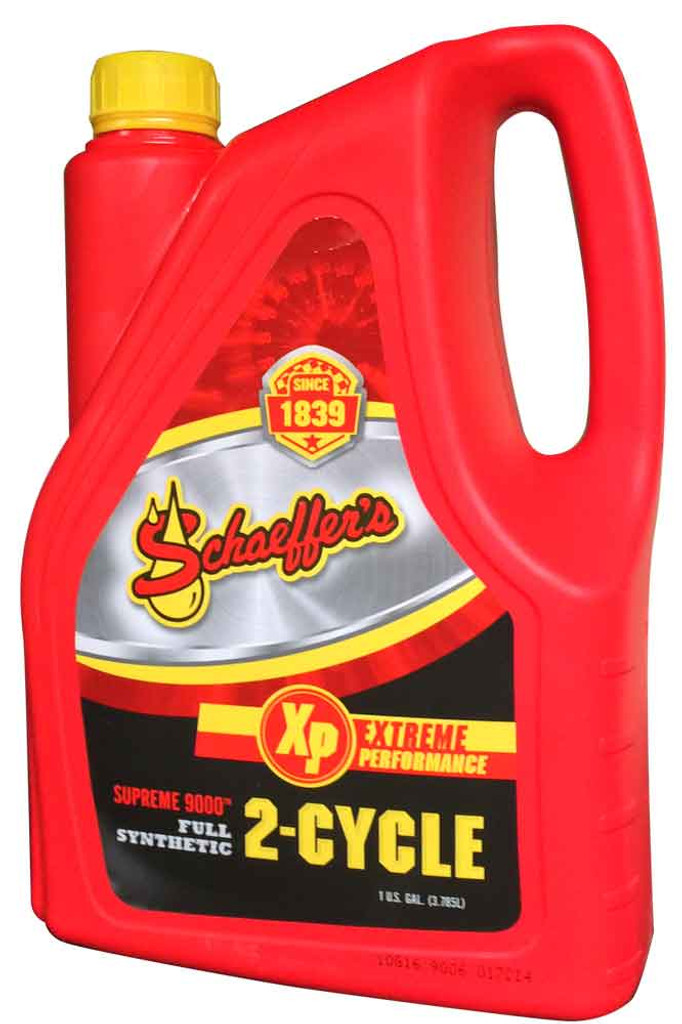 Schaeffer's Supreme 9000™ 2-Cycle Racing Oil is  a premium top tier ashless, full synthetic, 2-cycle engine oil designed for use in both carbureted, electronic fuel injected (EFI) and direct injection (DFI) 2-cycle engines.