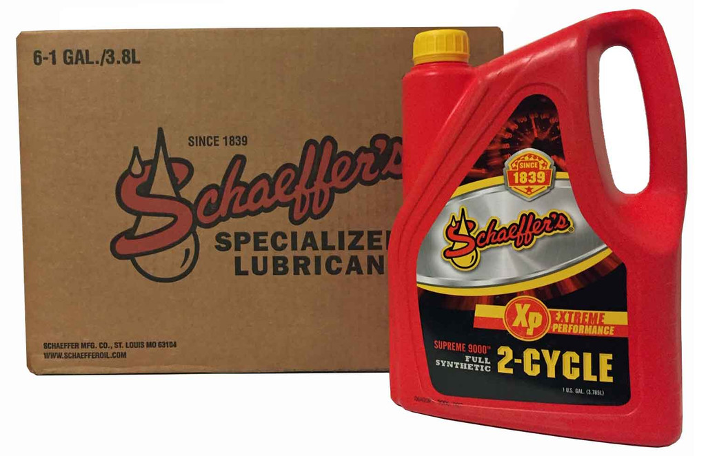 Schaeffer 9006-006 Supreme 9000 Full Synthetic Racing Oil 2-Cycle (6-Gallons)