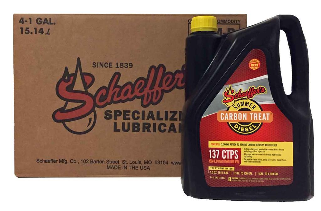 Schaeffer 0137CTPS-004 CarbonTreat Premium Summer Diesel Treatment (4-Gallon case)