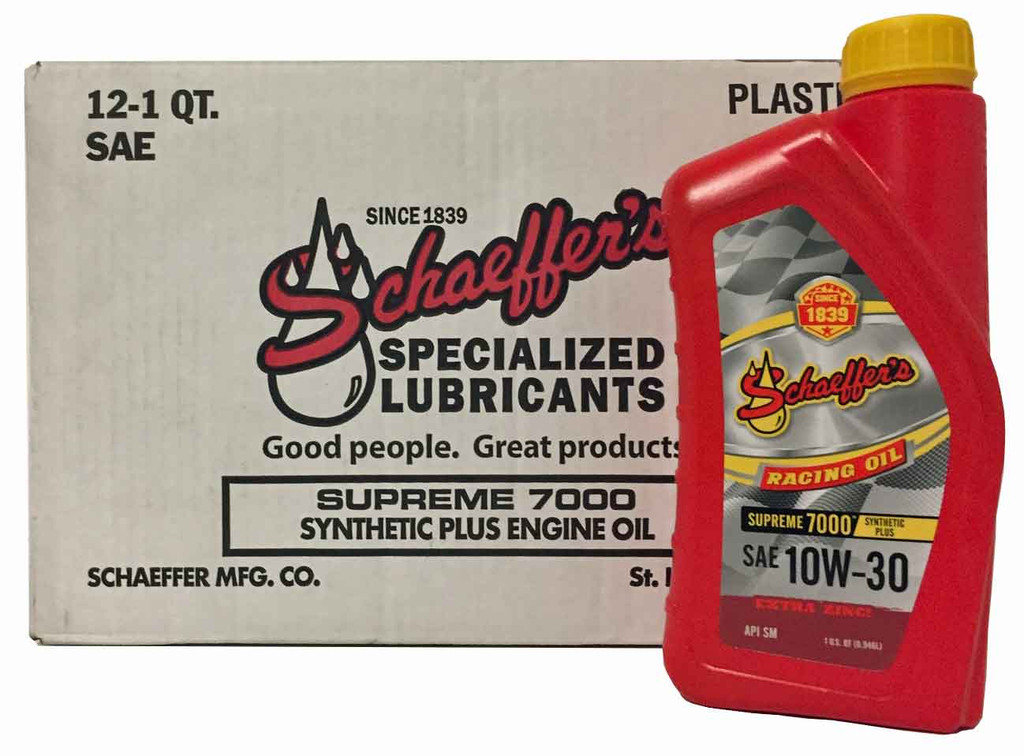 Schaeffer 0709-012 Supreme 7000 Synthetic Plus Racing Oil 10W-30 (12-Quarts)