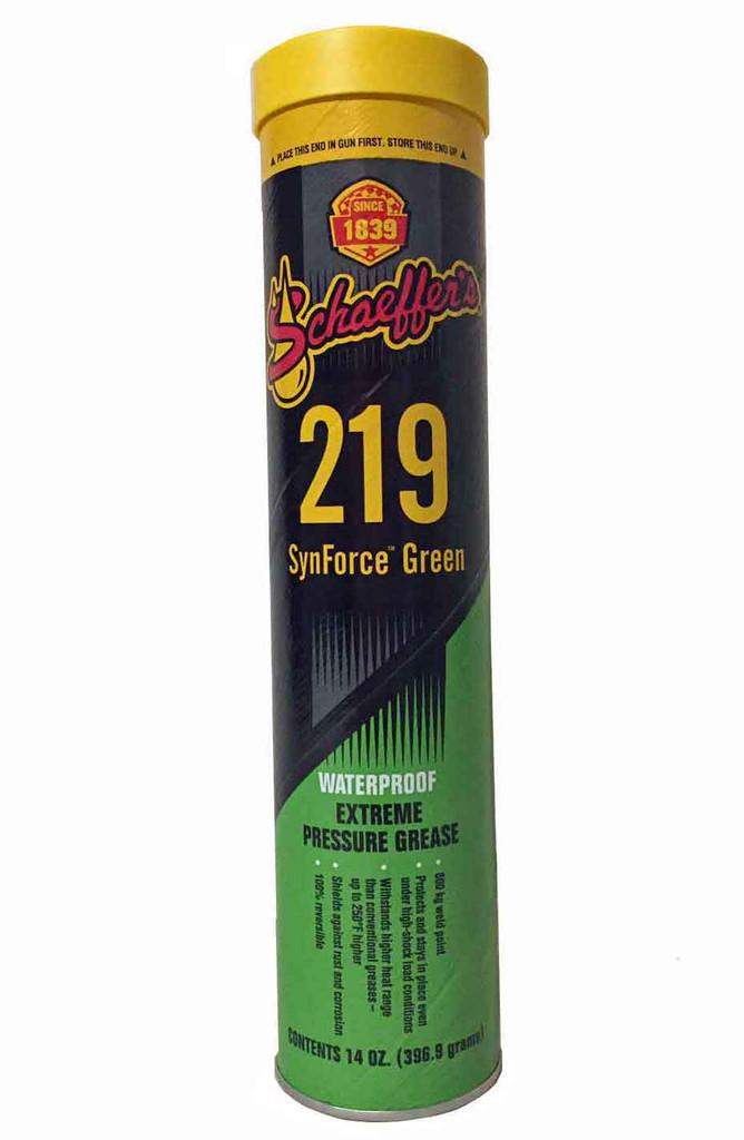 Schaeffer 02192-029S SynForce™ Green Extreme Pressure Grease NLGI #1 or #2 (1-Tube)