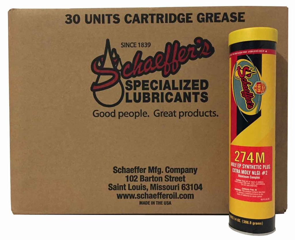 Schaeffer 0274M2-029 EP Synthetic Plus Grease Extra Moly NLGI #2 (30-Tubes)