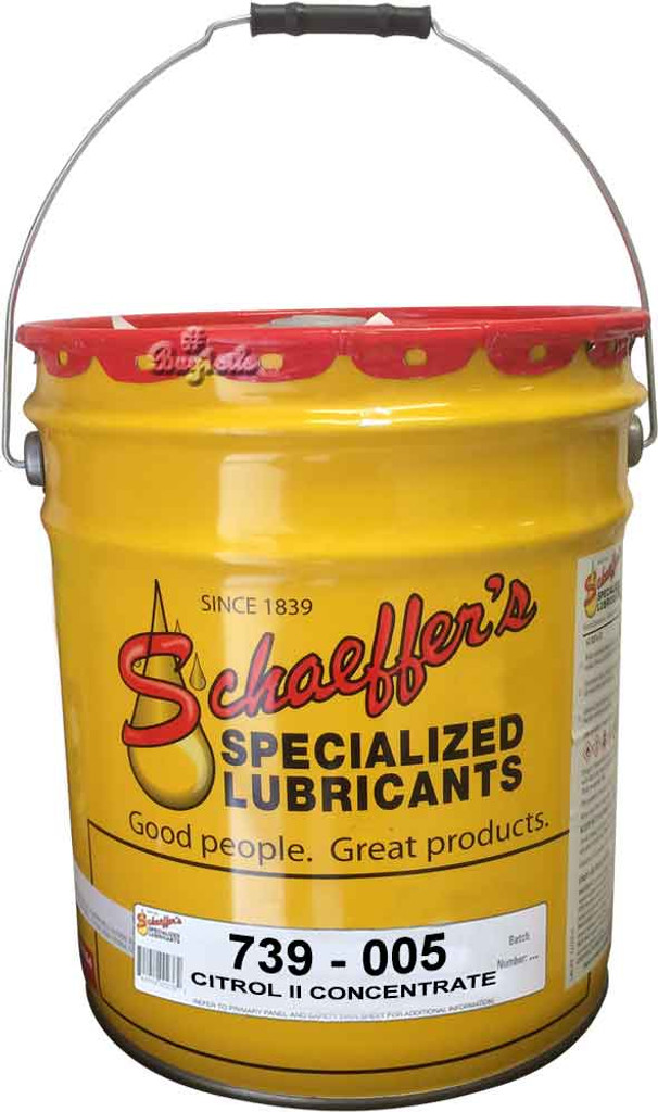 Schaeffer's 739 Citrol® II is a highly concentrated, all natural, biodegradable, environmentally safe, non-water soluble organic citrus based solvent cleaner and degreaser
