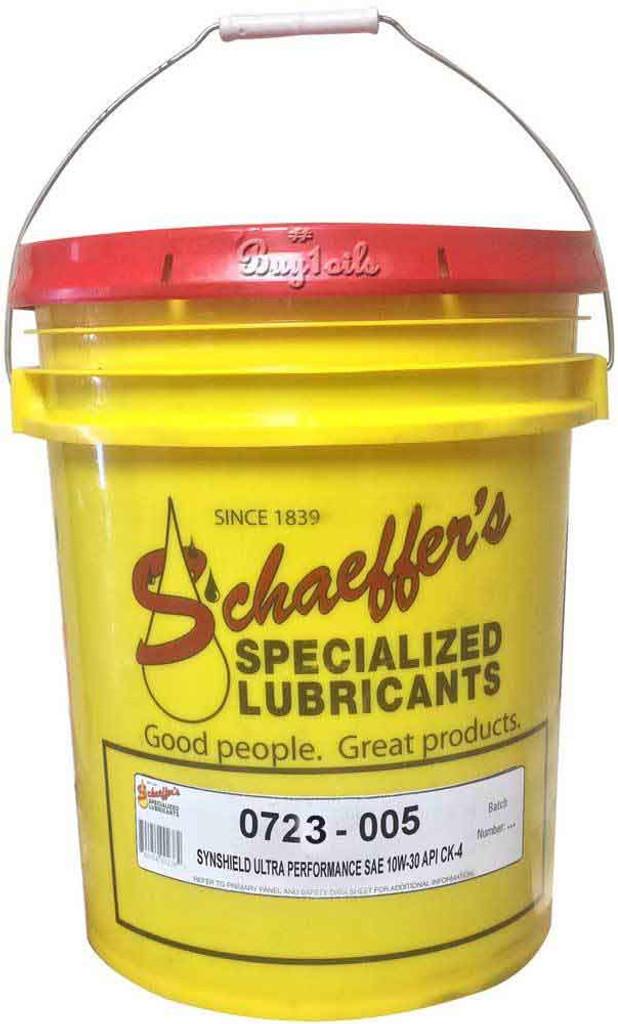 Schaeffer 0723-005 SynShield Ultra Performance 5W-30 CK-4 (5-Gallons)